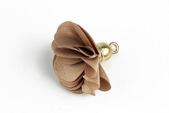 Pandantiv material textil si agatatoare aurie 28~30x22~24mm