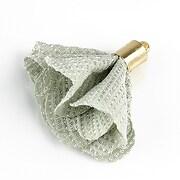 Pandantiv material textil si agatatoare aurie 28~30x28~30mm