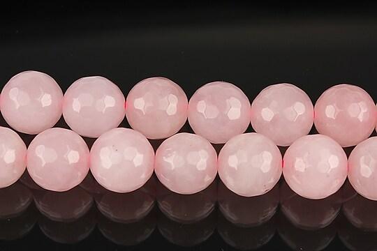 Cuart roz sfere fatetate 10mm