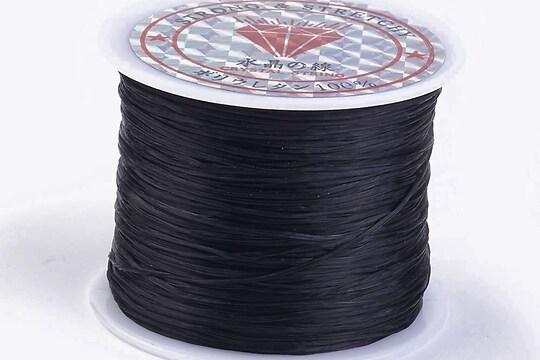 Elastic pentru bratari Crystal String 0,5mm - rola 45m - negru