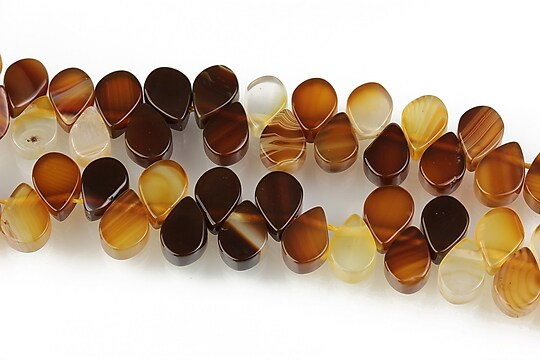 Agate striped brioleta 5x7mm - maro