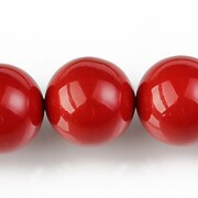 Perle tip Mallorca sfere 18mm - rosu