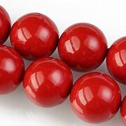 Perle tip Mallorca sfere 16mm - rosu