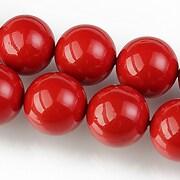 Perle tip Mallorca sfere 14mm - rosu