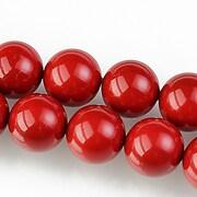 Perle tip Mallorca sfere 12mm - rosu