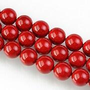 Perle tip Mallorca sfere 8mm - rosu
