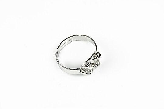 Baza de inel argintiu inchis, reglabila, 7 bucle