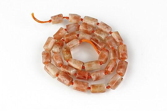 Sirag piatra soarelui tubulara cu fatete mari 8-10x7-8mm