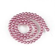 Sirag perle tip Mallorca sfere 5mm - roz inchis