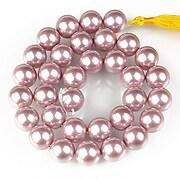Sirag perle tip Mallorca sfere 12mm - roz balais