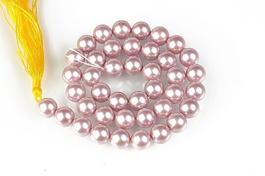 Sirag perle tip Mallorca sfere 10mm - roz balais