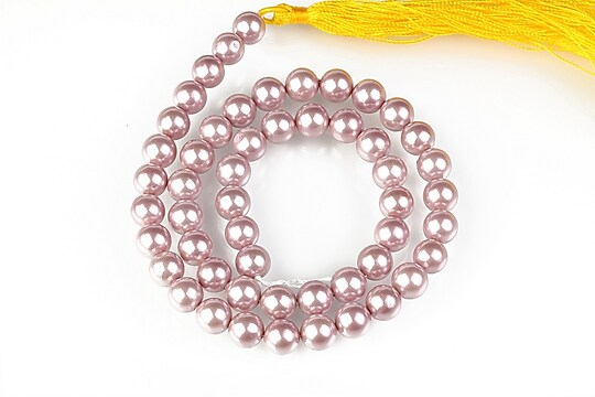 Sirag perle tip Mallorca sfere 8mm - roz balais