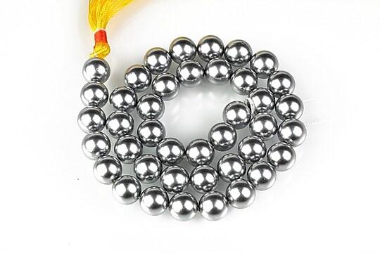 Sirag perle tip Mallorca sfere 10mm - argintiu