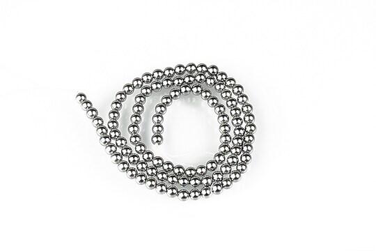 Sirag perle tip Mallorca sfere 4mm - argintiu
