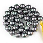 Sirag perle tip Mallorca sfere 12mm - gri cu irizatii