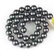 Sirag perle tip Mallorca sfere 10mm - gri cu irizatii
