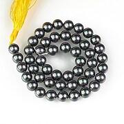 Sirag perle tip Mallorca sfere 8mm - gri cu irizatii