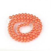 Sirag perle tip Mallorca sfere 5mm - portocaliu