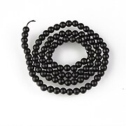 Sirag agate negre mate (frosted) sfere 4mm