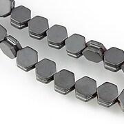Hematit mat hexagon 7mm