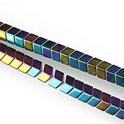 Hematit electroplacat multicolor sageata 4x6mm