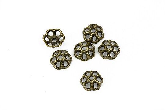 Capacele margele bronz 9mm