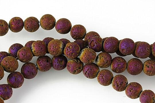 Margele lava electroplacata sfere 6mm - matte purple