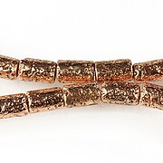 Margele lava electroplacata tub 10x6mm - rose gold
