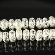 Margele lava electroplacata rondelen 5x8mm - argintiu deschis