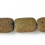 Margele lava electroplacata pernute 20x15mm - matte copper