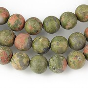 Unakite frosted (mate) sfere 8mm