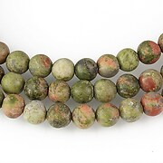 Unakite frosted (mate) sfere 6mm
