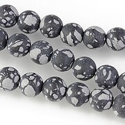Snowflake obsidian frosted (mat) sfere 8mm