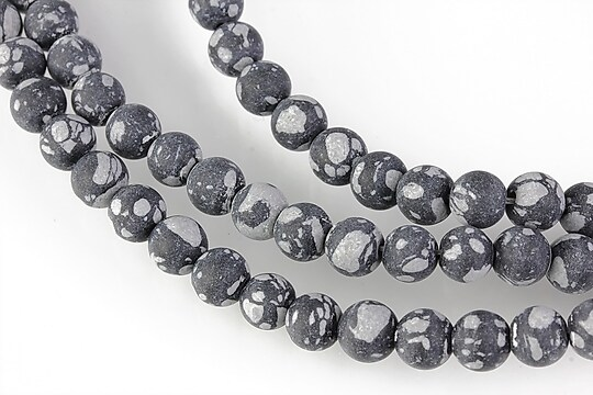 Snowflake obsidian frosted (mat) sfere 6mm