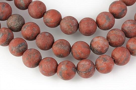 Sesame Jasper maro frosted (mat) 8mm