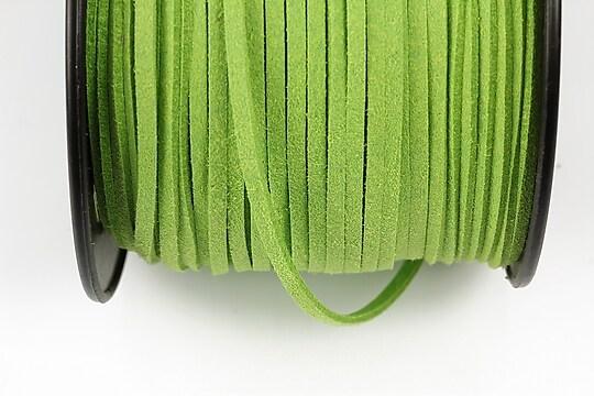 Snur suede (imitatie piele intoarsa) 3x1mm, verde deschis (5m)