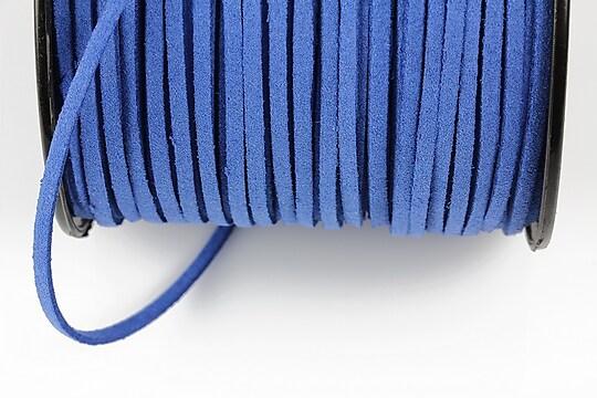 Snur suede (imitatie piele intoarsa) 3x1mm, albastru (5m)