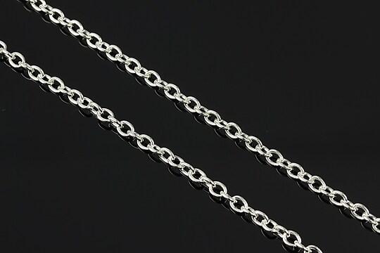 Lant argintiu 4x3mm (49cm)