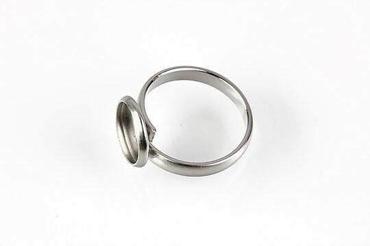 Baza inel reglabila otel inoxidabil 304, cabochon 10mm