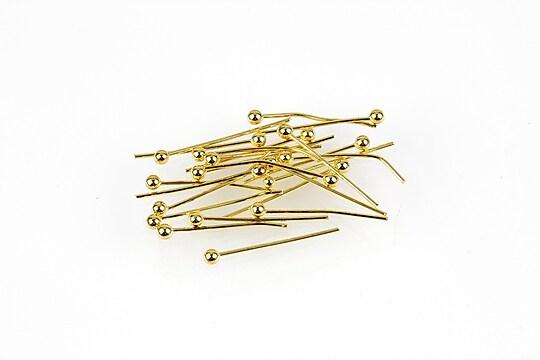 Ace cu bila aurii 1,6cm, grosime 0,5mm (50 buc.)