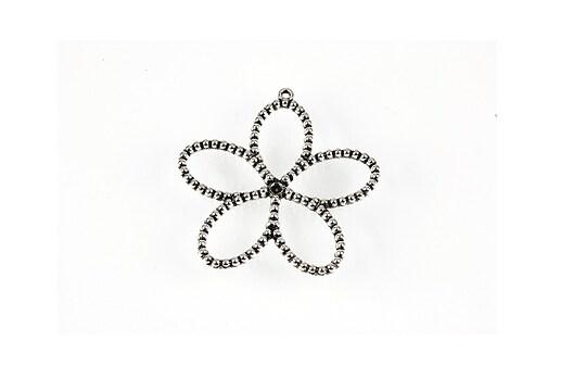 Pandantiv argintiu antichizat floare 30x28mm