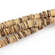 Sirag margele lemn cocos crem rondele aprox. 2-5x5mm