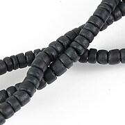 Sirag margele lemn cocos negru rondele aprox. 2-5x5mm