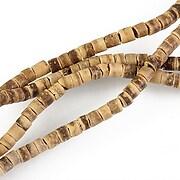 Sirag margele lemn cocos crem rondele aprox. 2-5x3,5mm