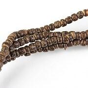 Sirag margele lemn cocos maro inchis rondele aprox. 2-5x3,5mm