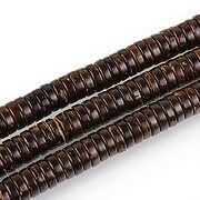 Sirag margele lemn cocos maro rondele 2x6mm