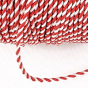 Snur Martisor impletit, la metru, snur alb si rosu, grosime 2mm  (1m)