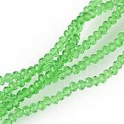 Cristale rondele 2x3mm - verde transparent - (10 buc.)