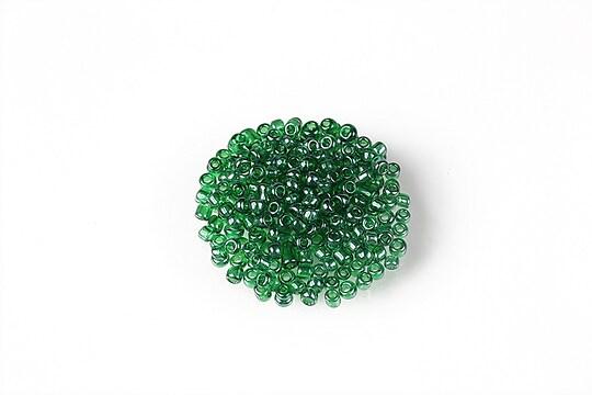 Margele de nisip 2mm (50g) - cod 621 - verde smarald lucios
