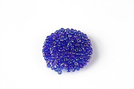 Margele de nisip 2mm (50g) - cod 625 - albastru safir cu reflexii iris
